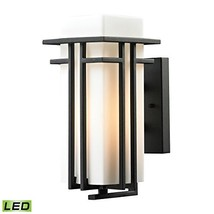 Elk Lighting 45085/1-LED Croftwell Collection 1 Light Outdoor Textured M... - $176.36