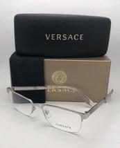 Neu Versace Rx-Able Brille Ve 1241 1000 54-18 145 Halb Randlos Silber Rahmen