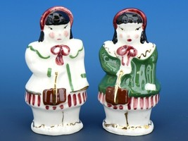 Vintage Novelty Salt & Pepper Shaker Set Poinsettia Studios California Pottery