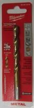 "Milwaukee 48-89-2218 21/64"" Thunderbolt Titanium Twist Drill Bit - $4.95"