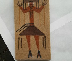 Vintage Sand Painting Navajo Indian  American Artifact FIRE DANCER , 6 x... - $9.49
