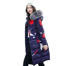 T long lady winter parkas jackets fur collar thick hood full outerwear 2018 warm casaco thumb200