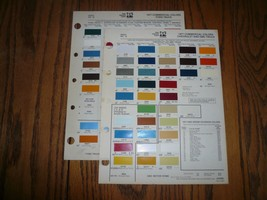 1977 Ford Chevy & GMC Commercial Ditzler PPG Color Paint Chips - $12.59