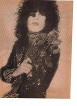 Kiss teen magazine pinup Clipping Vintage 1980's Ace Frehley Gene Simmons Bop