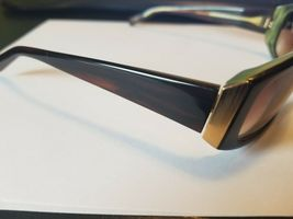 Vintage Oliver Peoples Jezebelle H Sunglasses  Brown Horn / Gold New PERFECT image 3