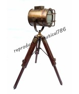 Vintage Antique Desk Floor Lamp With Table Tripod Handmade Searchlight D... - $63.92