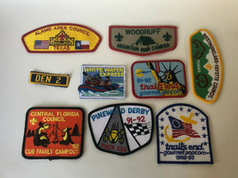 Boy Scouts Patch Lot Texas Camping Central Florida Derby Trails End  - $12.00
