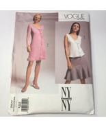 Vogue 2677 Size 8-12 Misses' Miss Petite Dress Top Skirt - $11.64