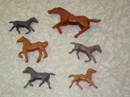 Plastic Toy Soldier Play Set Lot Vintage Horses Auburn MPC - $16.99