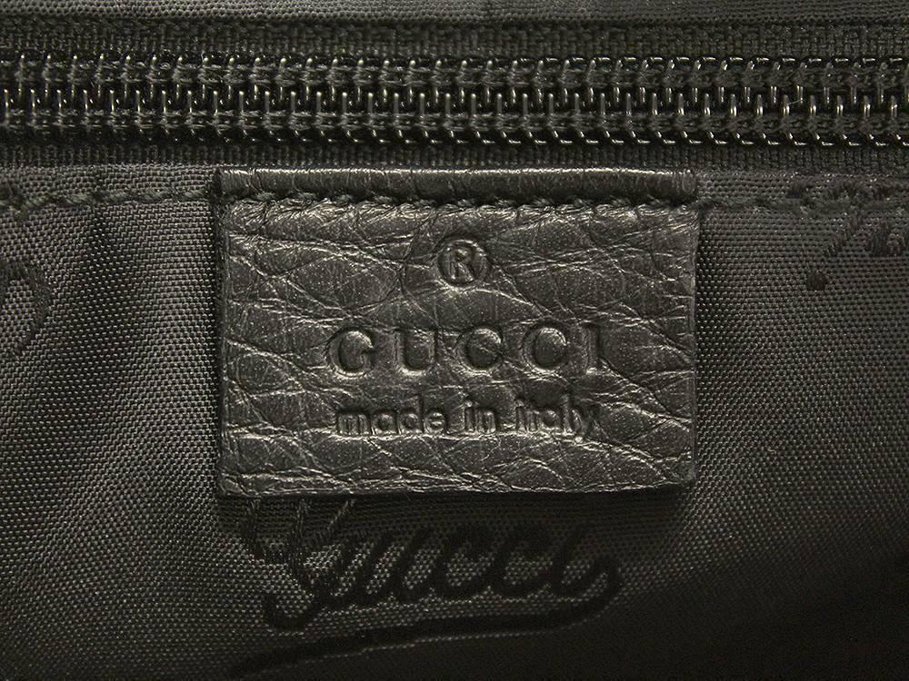 GUCCI JOY Guccissima Leather Black GG Shoulder Bag 201447 Authentic 5461431