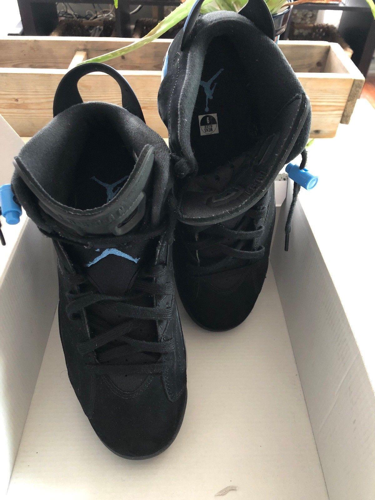 c6d6b8de380 Nike Air Jordan Retro 6 Vi UNC Black University Blue North Carolina  384664-006