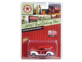 1940 Ford Delivery Van Texaco Red 1:64 Diecast Model Car Johnny Lightning - $17.13