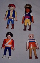 Lot of 4 Playmobil People Pirate Queen Safety Officer Woman City 1990s - $9.90