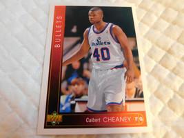 1993 Upper Deck,Washington Bullets,Basketball-#354(Calbert CHEANEY) - $4.95