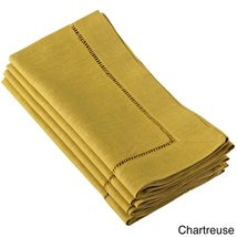 Fennco Styles Hemstitched Dinner Napkin, Set of 4 (chartreuse) - $24.74