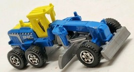 2012 Mattel Diecast Ground Grinder Blue Yellow Farm Farming Equipment toy car  - $11.64