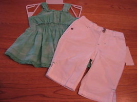 Calvin Klein CK infant toddler baby girls 12M 12 MOS shirt pants 2 pc NWT*^ - $19.30