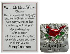 Warm Christmas Wishes Holiday Pocket Charm With Story Card (Fill) - $3.46