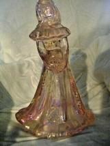Fenton Art Glass Pedal Pink Iridized Bridesmaid Doll Figurine 1994 QVC - $58.04
