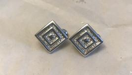 Monet Earrings Silver Tone  - $5.94