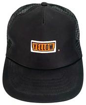 Vtg YELLOW Freight Lines Hat-Black Trucker Cap-Mesh-Snapback-Stylemaster - $23.36