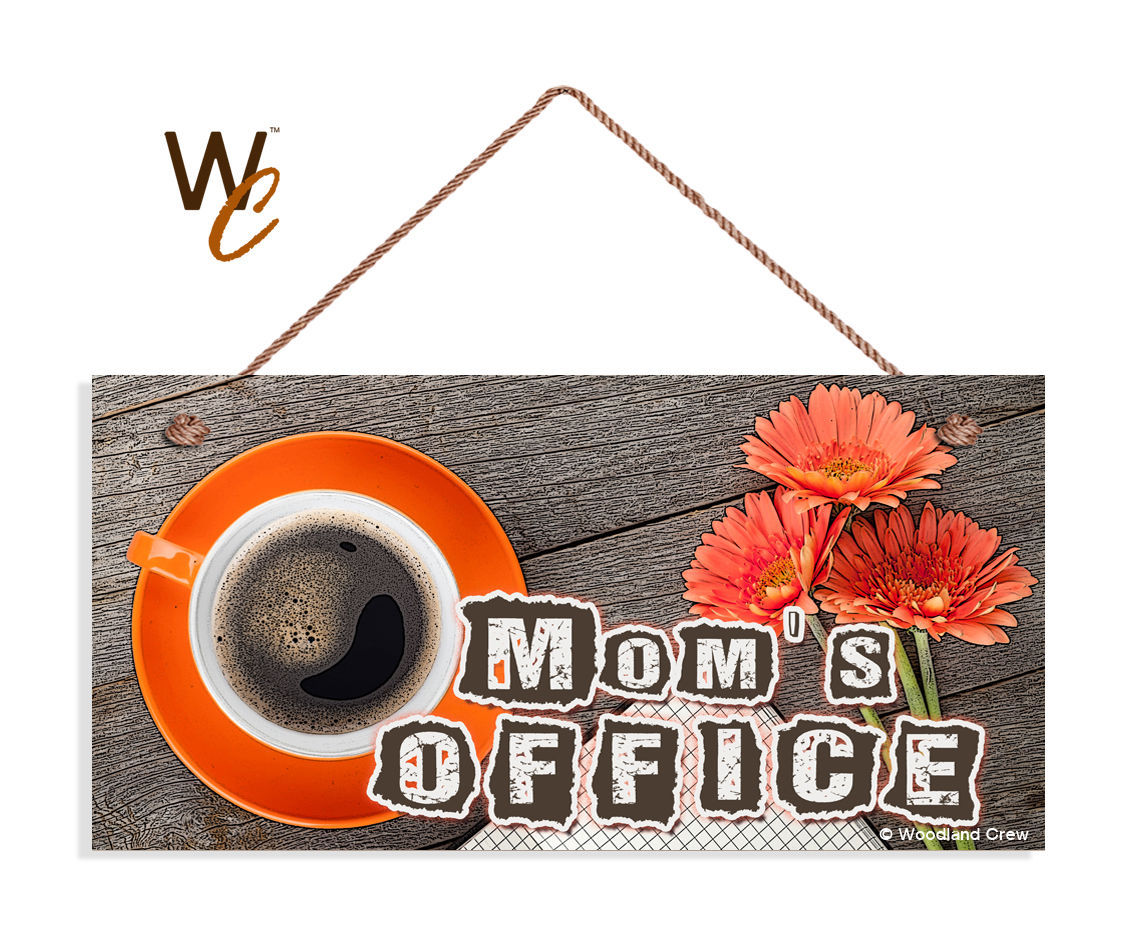 Mom's Office Sign, Studio Sign, Rustic Wood Style, Gift For Mom, 5x10 Sign