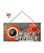 Mom's Office Sign, Studio Sign, Rustic Wood Style, Gift For Mom, 5x10 Sign - $12.87