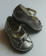 Baby Girl Toddler Circo Size 2 Silver Mary Jane Flex Holiday Easter Dres... - $11.95