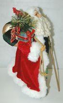 Roman Incorperated Detailed Santa Figurine Holding Filigree Gold Staff image 3