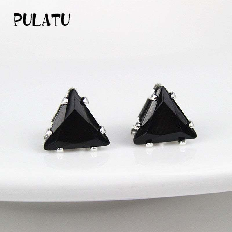 Fashion Triangle Earring For Women mm Simulated Zircon Small Stud Earrings Minim