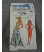 Vogue 9828 Misses 6-10 Halter top Dress Below knee or above ankle dress... - $38.00