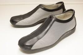 Donald J Pliner 10 Silver Black Slip On Flats Women's - $46.00