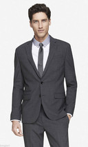 EXPRESS $328 GRAY VIRGIN WOOL PHOTOGRAPHER FITTED SUIT BLAZER JACKE 36R - $86.93