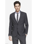 EXPRESS $328 GRAY VIRGIN WOOL PHOTOGRAPHER FITTED SUIT BLAZER JACKE 36R - €76,72 EUR