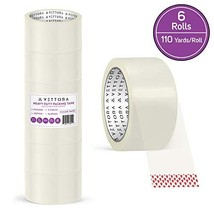Packing Tape Heavy Duty Vettora Clear Tape Designed for Moving Boxes, Shipping,