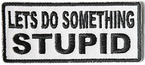 Lets Do Something Stupid Patch - 3.5x1.5 inch