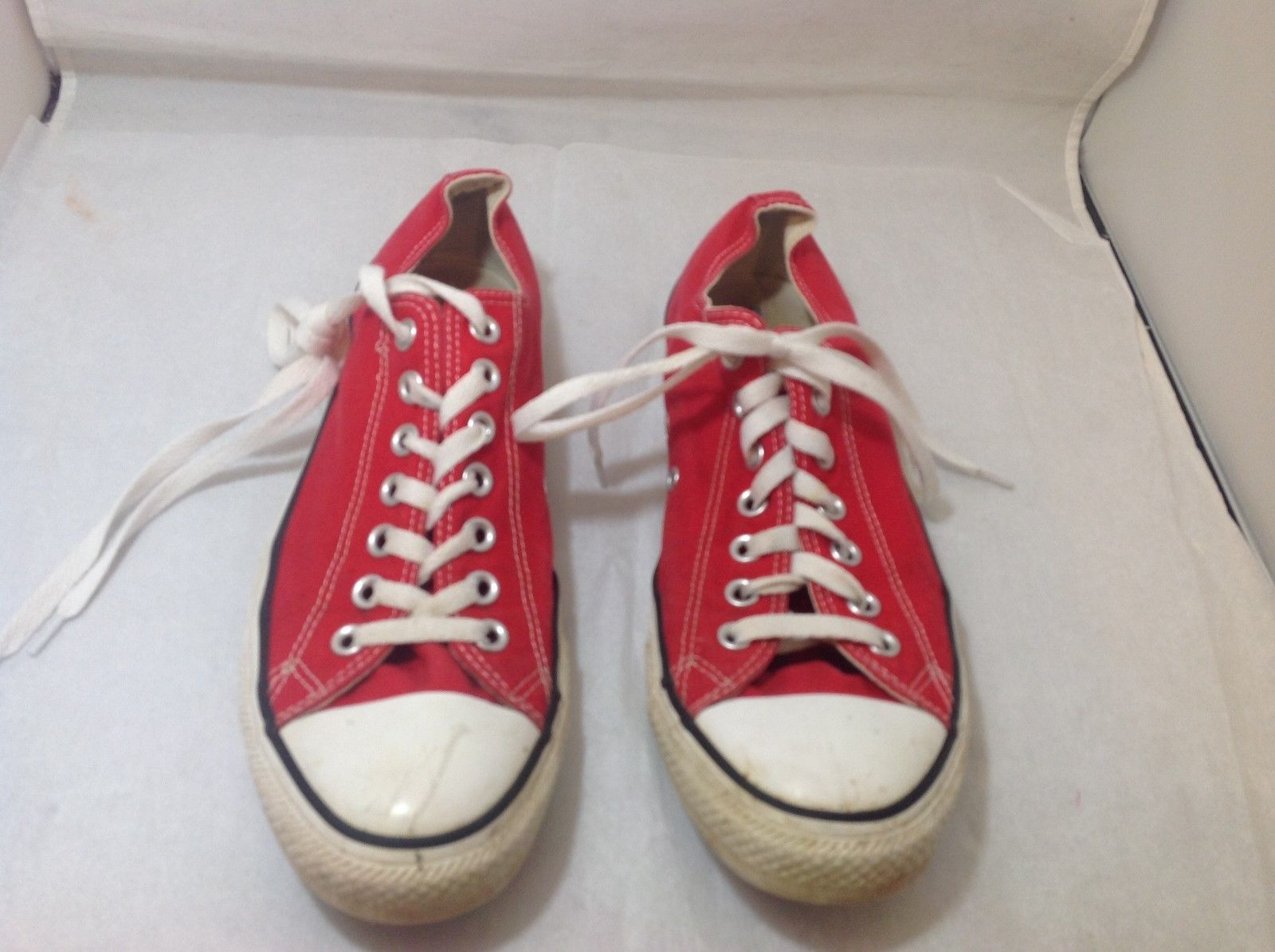 Men's Red CONVERSE ALL STARS Sz 9