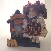 Collector's Choice Santa's Toy Shop Picture Frame Porcelain Doll New Oth... - $17.30