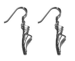 Nice Ballerina Ballet Dancer Shoe Charm Earrings Silver .925 - $30.97