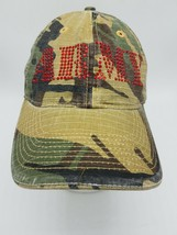 Green Camo ARMY Ball Cap Applied Red Sequins Adjust in Back - $14.71