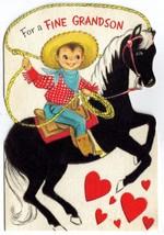 Vintage HALLMARK Valentine Card - BLACK FLOCKED HORSE - $14.99