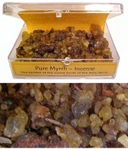 Pure Myrrh - Incense 1oz. A tablet of Charcoal enclosed with every box. - $8.99