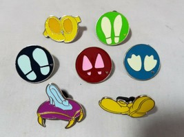 Disney Official Trading Pins Shoes Footprints Hidden Mickey Lot of 7 - $13.09