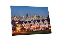 "Pingo World 0901Q34RY0M ""San Francisco Painted Ladies Skyline"" Gallery Wrapped C - $138.55"