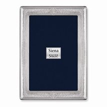 Bilaminate Sterling Silver Hammered Rope with Star 4x6 Frame - $91.48