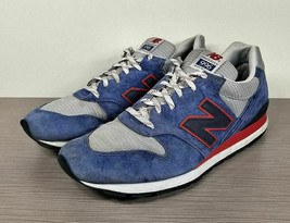 New Balance 996 National Parks Sneaker, Blue/Grey/Red, Mens Size 12 / 46.5 - $58.79