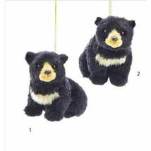 Furry Black Bear Ornament - $14.95