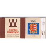 UK Matchbox Cover Cricket Badges Essex Peter Dominic Wines Finland - $1.48