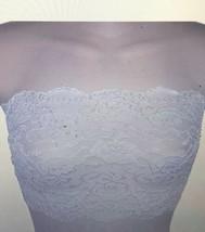 Ally Rose Femmes Blanc Dentelle Extensible Topper Caraco Bustier Haut Tube - $16.94