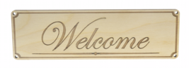 Welcome Sign for Door Plaque Signage Corporate School Business Retail - $13.49
